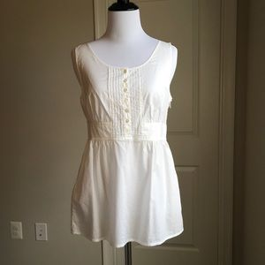 🍍Jcrew white cotton apron tank🍍